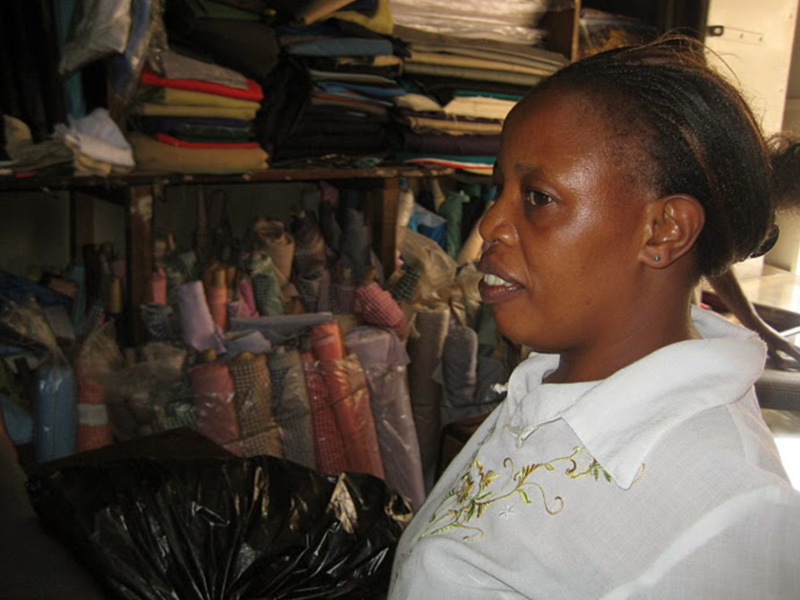 Margaret works hard to find a good deal on everything including material for uniforms