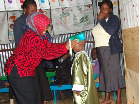 Mama Margaret knows that ensuring the children feel proud about their achievements helps their confidence