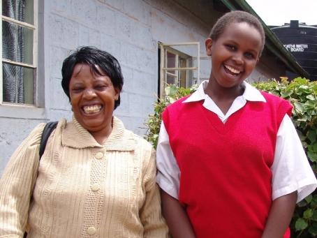 Where possible Margaret helps students like Carol Ndirangu get sponsorship for secondary school