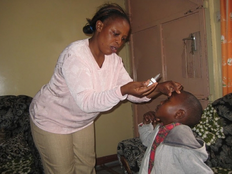 Margaret ensures the childrens health needs are attended to