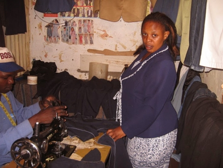 School uniforms are compulsory in Kenya so Margaret ensures all students have uniforms