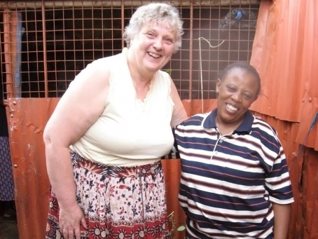 Cheryl Fyfe with Mama Margaret