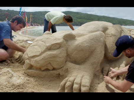The Gumption sand sculpture fundraiser