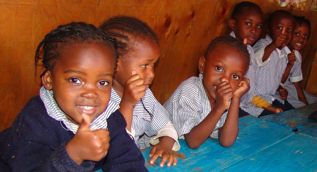 Kenyan children at the Nairobi school