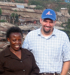 Margaret Nyabuto and Tenderfeet Foundation president Dax Mitchell