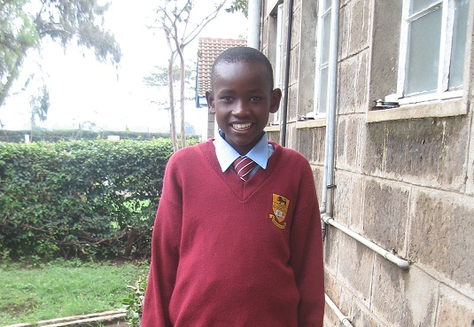 Kevin Ochoki as he entered Form 1