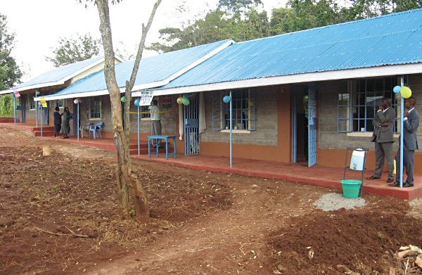 The new and permanent Tenderfeet school building