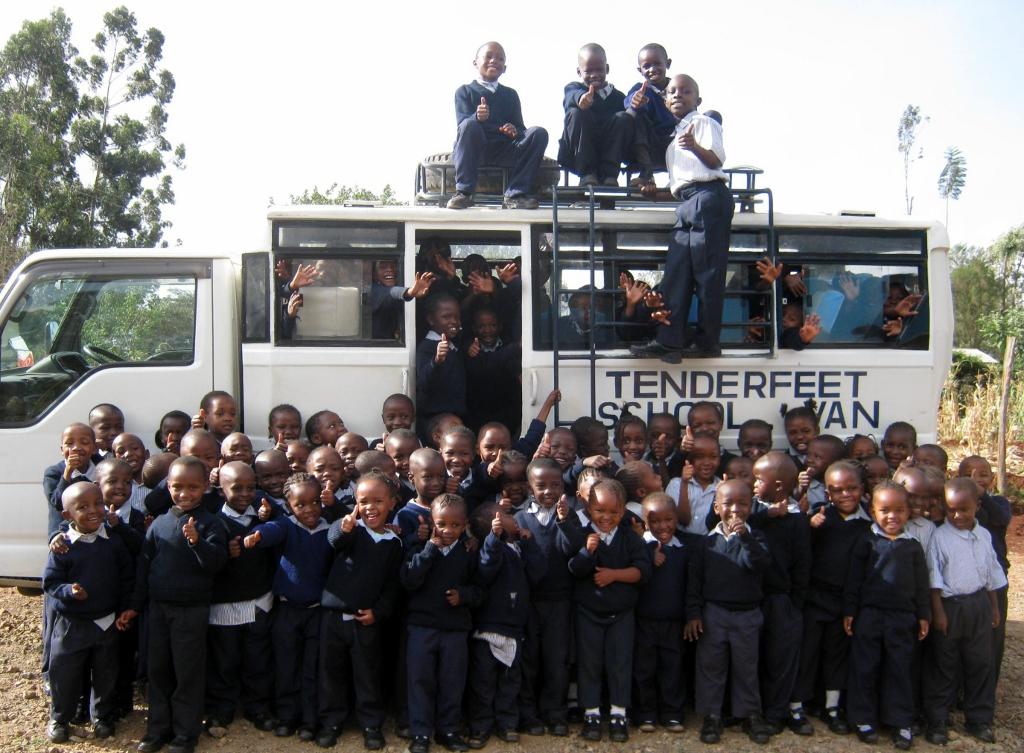 The new Tenderfeet School Bus