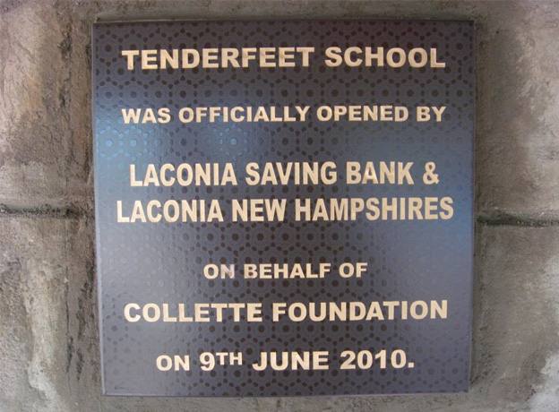 The official opening plaque