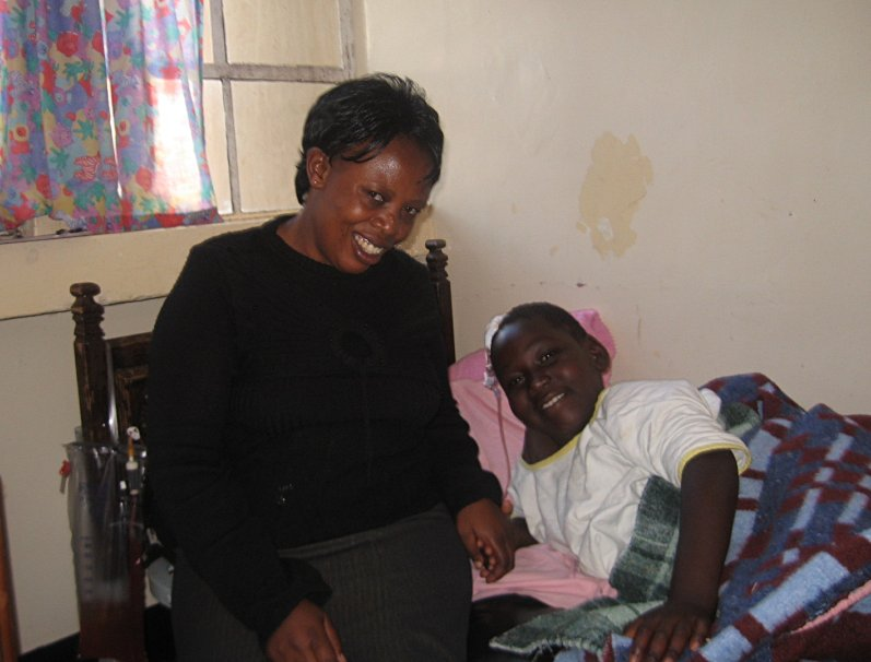 Shadrack and Mama Margaret in the hospital in early 2010
