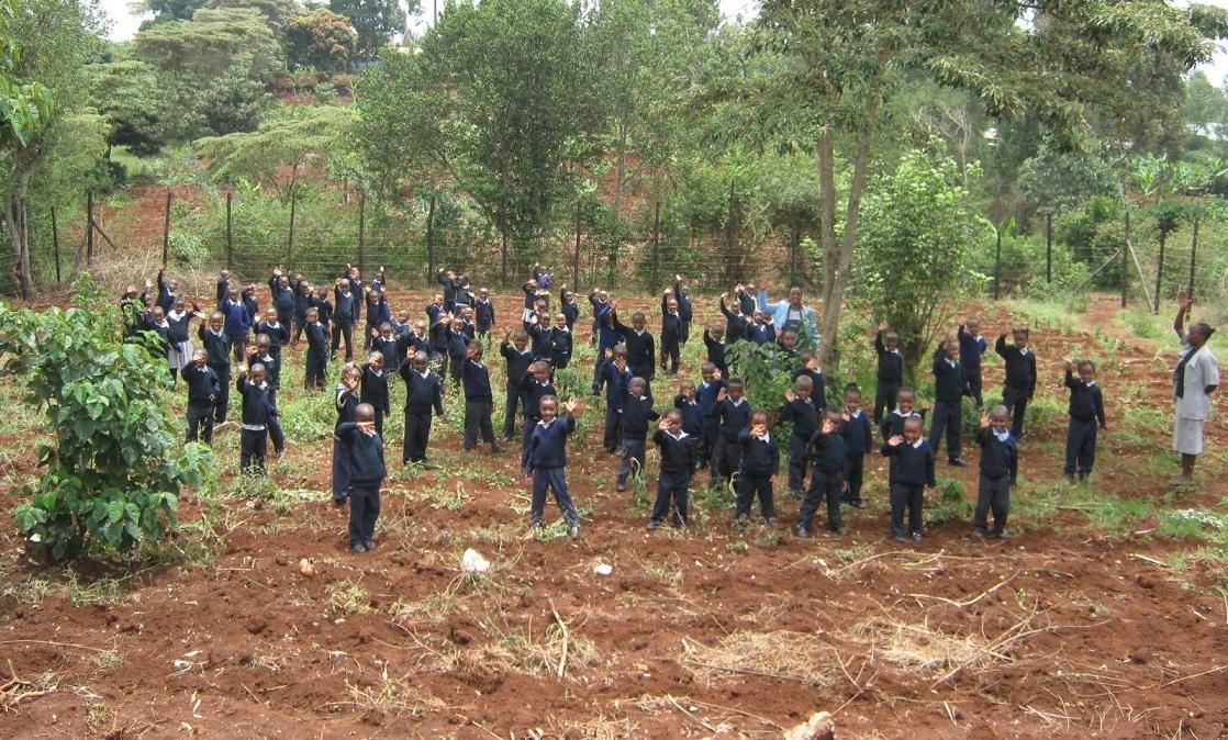 Tenderfeet Kids enjoy the new plot of land