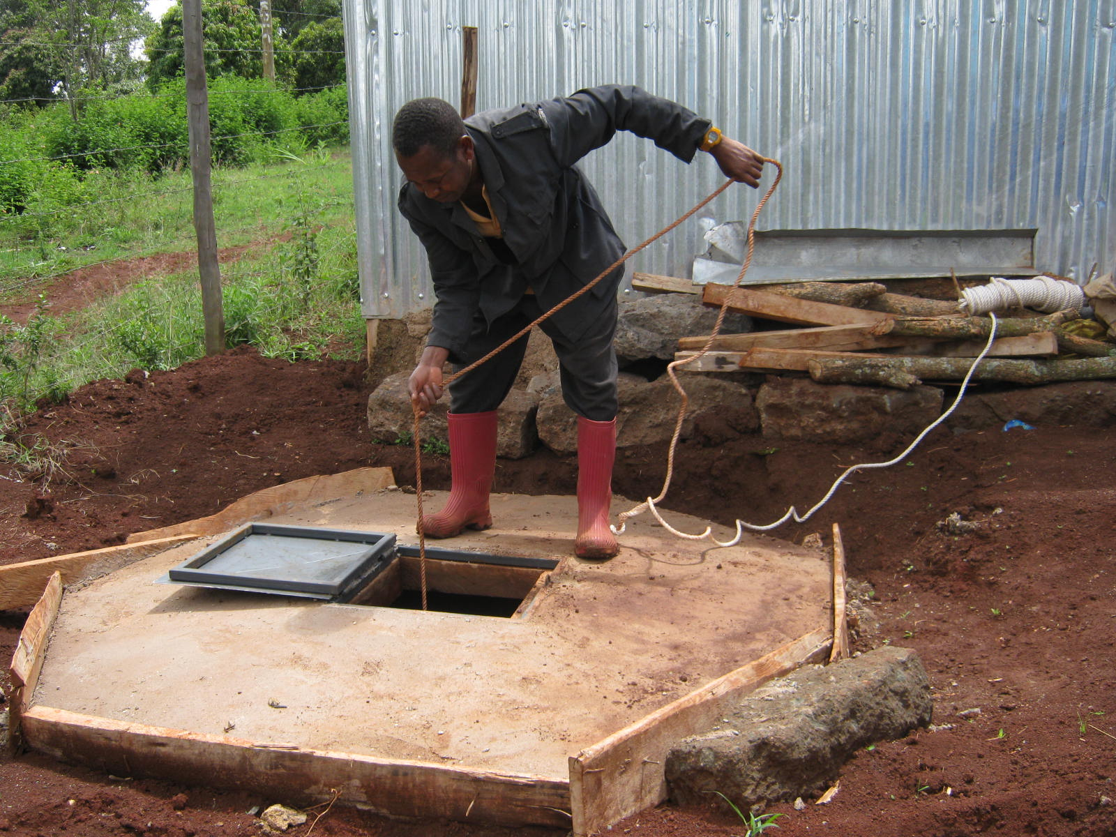This water well is a great help during dry seasons