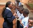 Tenderfeet kids practice brushing their teeth